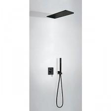 Tres Mono-Term kompletny zestaw prysznicowy podtynkowy deszczownica 160x550mm czarny matowy - 754110_O1