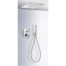 Tres Mono-Term kompletny zestaw prysznicowy podtynkowy Chromoterapia deszczownica 500x500mm chrom - 525244_O1