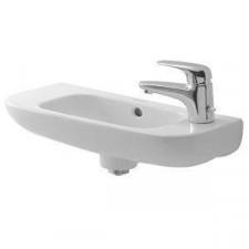 Duravit D-Code Umywalka wisząca 50x22 do małej łazienki biała - 391714_O1