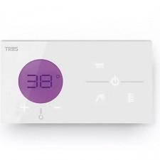 Tres Shower Technology bateria natryskowa podrynkowa termostatyczna elektroniczna 3-drożna biały - 720644_O1