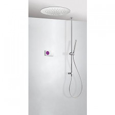 Tres Shower Technology kompletny zestaw prysznicowy podtynkowy termostatyczny elektroniczny 2-drożny deszczownica O380mm chrom - 525199_O1