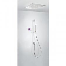 Tres Shower Technology kompletny zestaw prysznicowy podtynkowy termostatyczny elektroniczny 2-drożny deszczownica 500x500mm chrom - 612868_O1