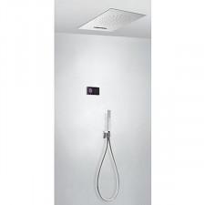 Tres Shower Technology kompletny zestaw prysznicowy podtynkowy termostatyczny elektroniczny 3-drożny deszczownica sufitowa chrom - 757647_O1