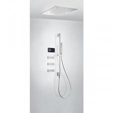 Tres Shower Technology kompletny zestaw prysznicowy podtynkowy termostatyczny elektroniczny 3-drożny deszczownica 500x500mm chrom - 745623_O1