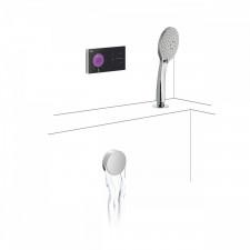 Tres Shower Technology kompletny zestaw wannowy podtynkowy termostatyczny elektroniczny 2-drożny kaskada chrom - 740262_O1