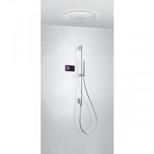 Tres Shower Technology kompletny zestaw prysznicowy podtynkowy termostatyczny elektroniczny 2-drożny deszczownica średnica500mm chrom - 752746_O1
