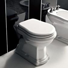 Kerasan Retro miska WC stojąca odpływ poziomy biała - 473164_O1