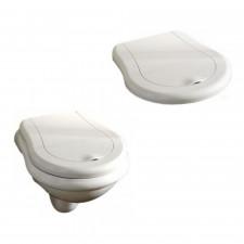 Kerasan Retro zestaw miska WC wisząca 52 cm z deską wolnoopadającą (101501+108901) - 468523_O1