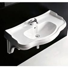 Kerasan Retro umywalka wisząca 100 biała - 528608_O1