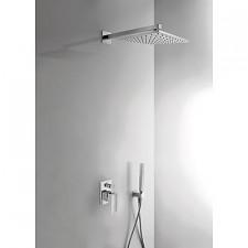 Tres Cuadro-Tres kompletny zestaw prysznicowy podtynkowy deszczownica 300x300mm chrom - 389221_O1