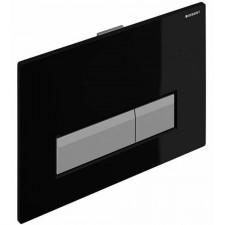 Geberit Sigma40 przycisk do WC z funkcją odciągu powietrza czarny/szczotkowane aluminium - 416412_O1