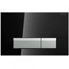 Geberit Sigma40 przycisk do WC z funkcją odciągu powietrza szkło czarne/aluminium - 459200_O1