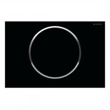 Geberit Sigma10 Przycisk uruchamiający, przedni, czarny-chrom bł.-czarny - 461202_O1