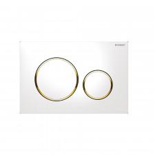 Geberit Sigma20 przycisk uruchamiający przedni, biały-złoty-biały - 599067_O1