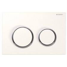 Geberit Omega20 Przycisk uruchamiający do WC, przedni/górny, biały-chrom błyszczący-biały - 468988_O1