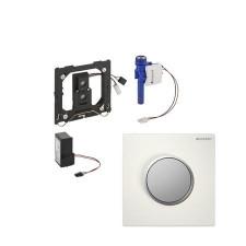 Geberit HyTronic przycisk elektroniczny zawór spłukujący do pisuaru, zasilanie 230V, Sigma10, biały-chrom mat-chrom mat - 26699_O1
