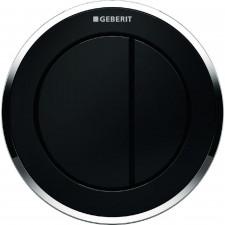 Geberit HyTouch pneumatyczny przycisk uruchamiający WC Typ 10, ręczny, podtynkowy, dwudzielny, czarny-chrom - 553846_O1