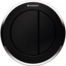 Geberit HyTouch pneumatyczny przycisk uruchamiający WC Typ 10, ręczny, meblowy dwudzielny, czarny-chrom - 553838_O1