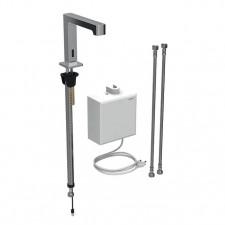 Geberit Brenta bateria umywalkowa stojąca, zasilanie sieciowe, z natyn. skrzynką, bez mieszacza, chrom - 721923_O1