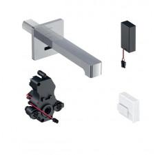 Geberit Brenta bateria umywalkowa ścienna, zasilanie bateryjne, do podt. skrzynki, z mieszaczem, L22, chrom - 721995_O1