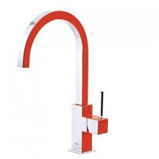 Tres Cuadro Exclusive bateria kuchenna, zlewozmywakowa stojąca czerwony chrom - 455376_O2