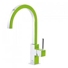 Tres Cuadro Exclusive bateria kuchenna, zlewozmywakowa stojąca zielony chrom - 455377_O2