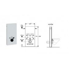Geberit Monolith moduł sanitarnydo WC wiszącego, H101, sand - 599049_O1