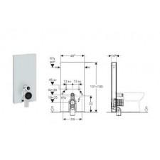 Geberit Monolith Plus moduł sanitarny do WC stojącego, H101, umbra - 599071_O1