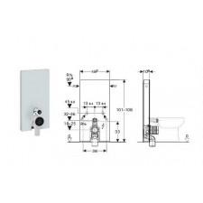 Geberit Monolith Plus moduł sanitarny do WC stojącego, H101, sand - 599113_O1
