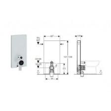 Geberit Monolith Plus moduł sanitarny do WC stojącego, H101, biały - 599166_O1