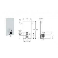 Geberit Monolith Plus moduł sanitarny do WC stojącego, H101, czarny - 599186_O1