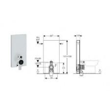 Geberit Monolith Plus moduł sanitarny do WC stojącego, H101, umbra - 599024_O1