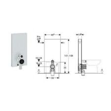 Geberit Monolith Plus moduł sanitarny do WC stojącego, H101, sand - 599167_O1