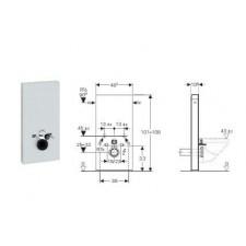 Geberit Monolith Plus moduł sanitarny do WC wiszącego, H101, biały - 599183_O1