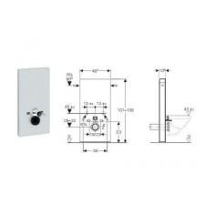 Geberit Monolith Plus moduł sanitarny do WC wiszącego, H101, czarny - 599155_O1