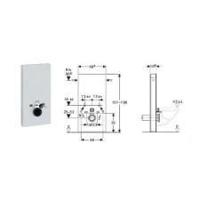 Geberit Monolith Plus moduł sanitarny do WC wiszącego, H101, sand - 599010_O1