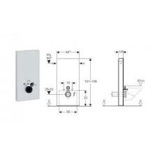 Geberit Monolith Plus moduł sanitarny do WC wiszącego, H101, czarny - 599141_O1