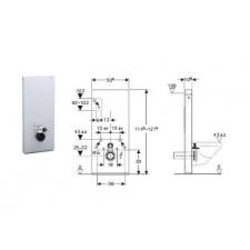 Geberit Monolith Plus moduł sanitarny do WC wiszącego, H114, sand - 599105_O1