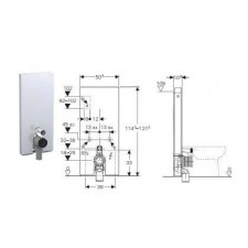 Geberit Monolith Plus moduł sanitarny do WC stojącego, H114, czarny - 599073_O1