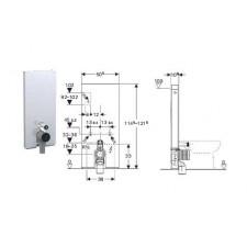 Geberit Monolith Plus moduł sanitarny do WC stojącego, H114, sand - 599052_O1