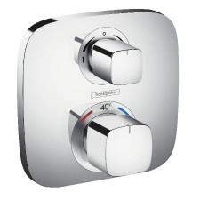 Hansgrohe Ecostat E Bateria termostatyczna z zaworem odcinająco-przełączającym, montaż podtynkowy, element zewnętrzny chrom - 508212_O1