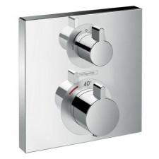 Hansgrohe Ecostat bateria termostatyczna do 2 odbiorników, montaż podtynkowy, element zewnętrzny - 763844_O1