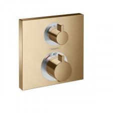 Hansgrohe Ecostat Square Bateria termostatyczna do 2 odbiorników, montaż podtynkowy, element zewnętrzny, brąz szczotkowany - 782908_O1