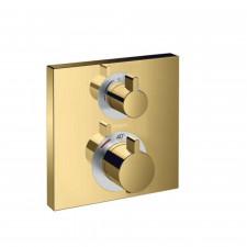 Hansgrohe Ecostat Square Bateria termostatyczna do 2 odbiorników, montaż podtynkowy, element zewnętrzny, złoty optyczny - 782911_O1