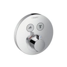 Hansgrohe ShowerSelect S bateria termostatyczna dla 2 odbiorników, montaż podtynkowy, element zewnętrzny chrom - 508173_O1