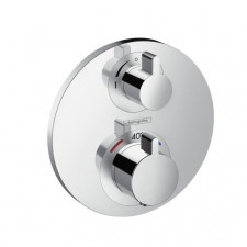 Hansgrohe Ecostat S Bateria termostatyczna z zaworem odcinajaco-przełączającym, montaż podtynkowy, element zewnętrzny chrom - 508318_O1