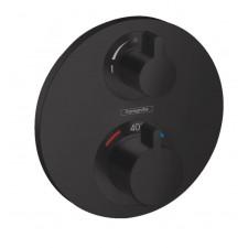 Hansgrohe Ecostat S Bateria termostatyczna do 2 odbiorników , montaż podtynkowy, element zewnętrzny Czarny mat - 819364_O1