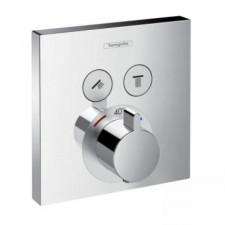 Hansgrohe ShowerSelect bateria termostatyczna podtynkowa dla 2 odbiorników, element zewnętrzny chrom - 466568_O1