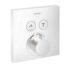 Hansgrohe ShowerSelect Bateria termostatyczna do 2 odbiorników, montaż podtynkowy, element zewnętrzny - 819032_O1