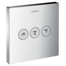 Hansgrohe ShowerSelect Zawór odcinający podtynkowy dla 3 odbiorników, element zewnętrzny chrom - 464825_O1